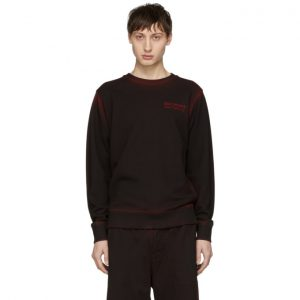 Saturdays NYC SSENSE Exclusive Black and Red Bowery Sweatshirt