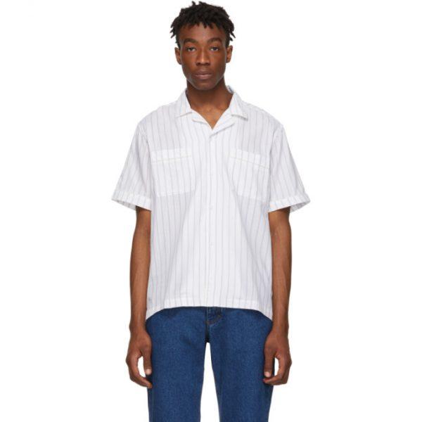 Saturdays NYC White Cameron Short Sleeve Shirt