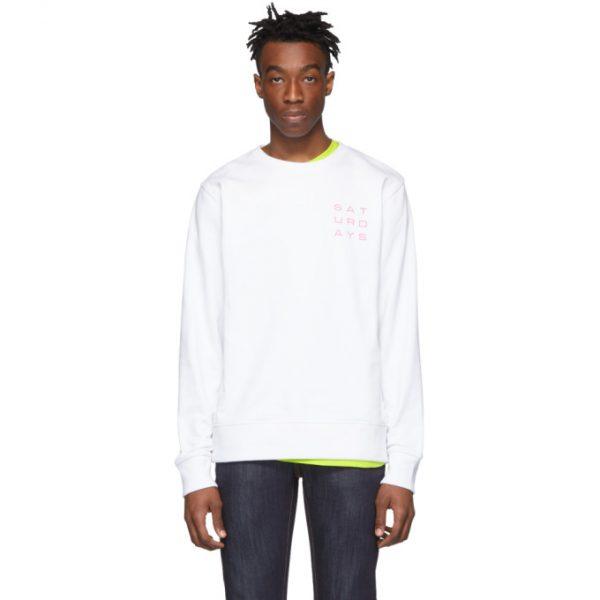 Saturdays NYC White Lotus Grid Sweatshirt