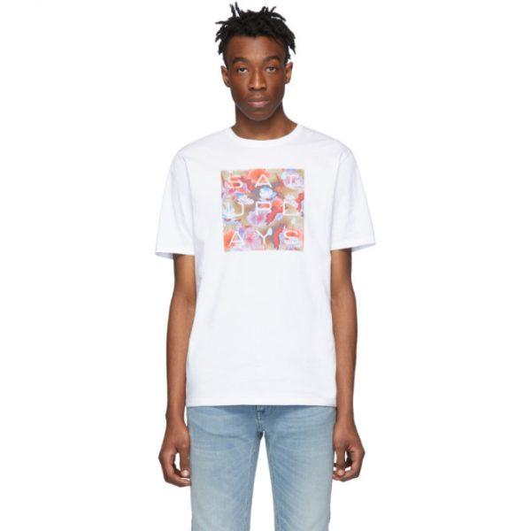 Saturdays NYC White Lotus Grid T-Shirt
