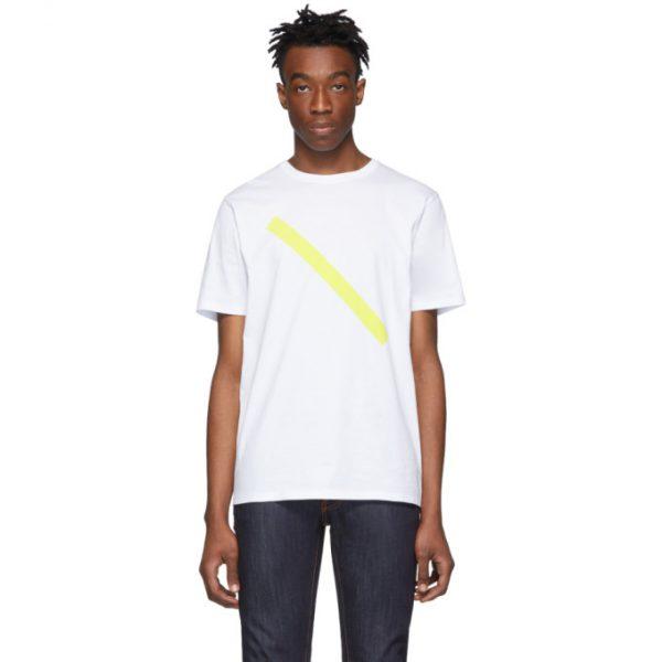 Saturdays NYC White Slash T-Shirt