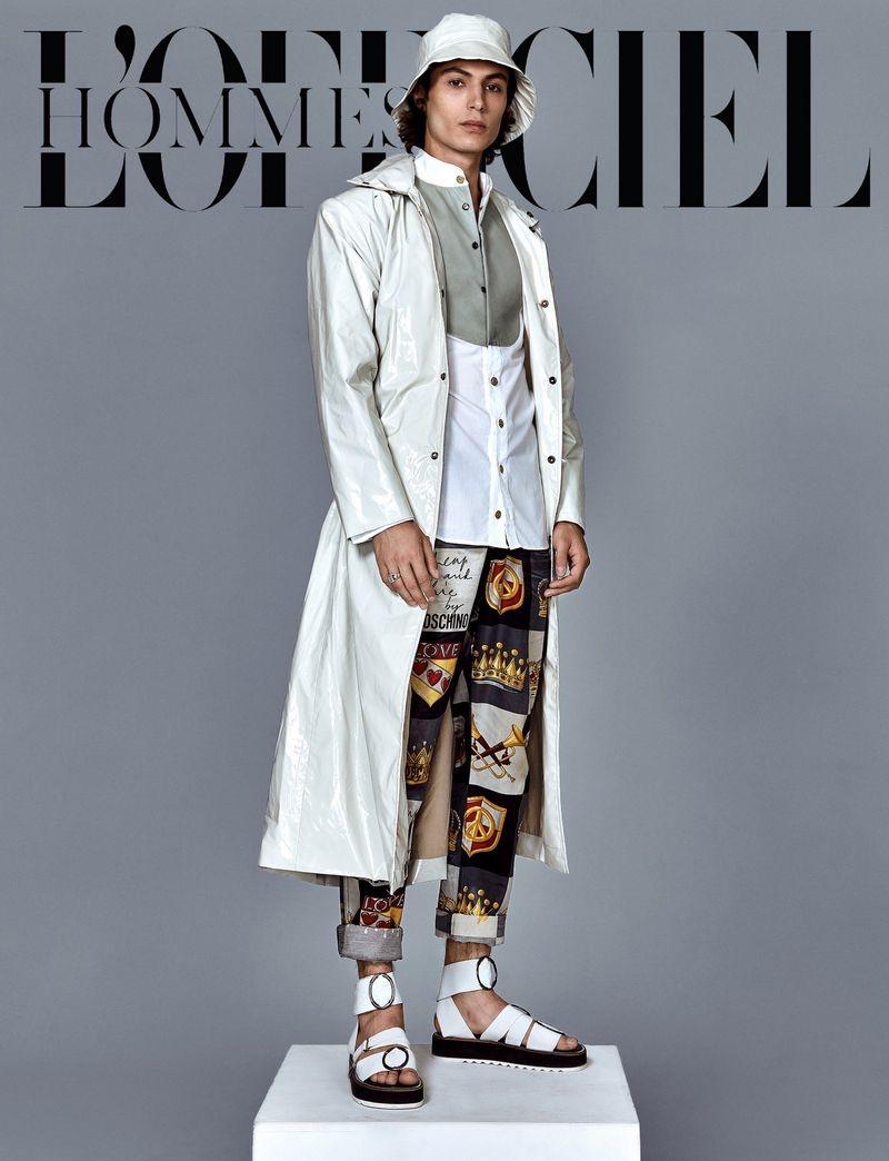 Simon Souchois is a Style Standout for L'Officiel Hommes Kazakhstan