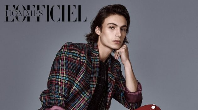 Simon Souchois is a Style Standout for L'Officiel Hommes Kazakhstan