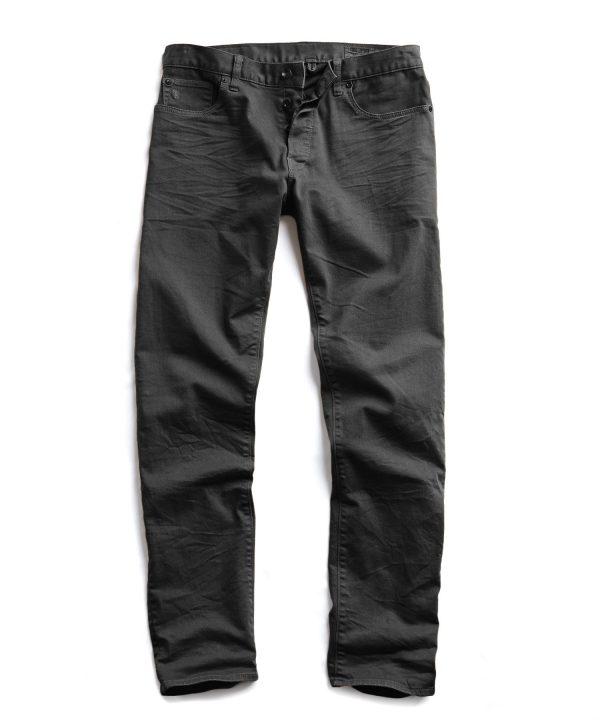 Slim Fit 5-Pocket Garment Dyed Stretch Twill in Faded Black