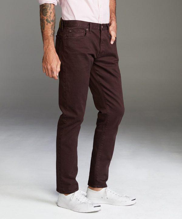 Slim Fit 5-Pocket Garment-Dyed Stretch Twill in Fudge
