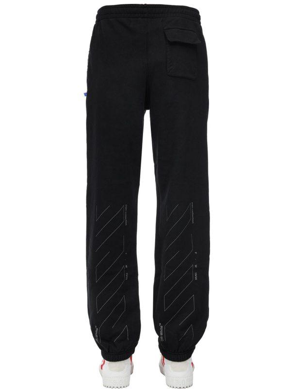 Slim Unfinished Cotton Jersey Sweatpants