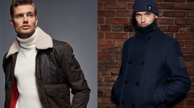 Model Stefan Pollmann appears in Strellson's fall-winter 2019 campaign.