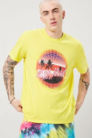 Summer Forever Graphic Tee at Forever 21 , Yellow/multi