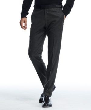 Sutton Tuxedo Pant in Italian Olive Wool Flannel