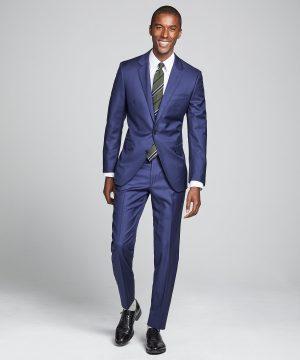 Sutton Wool Twill Suit Jacket In Blue