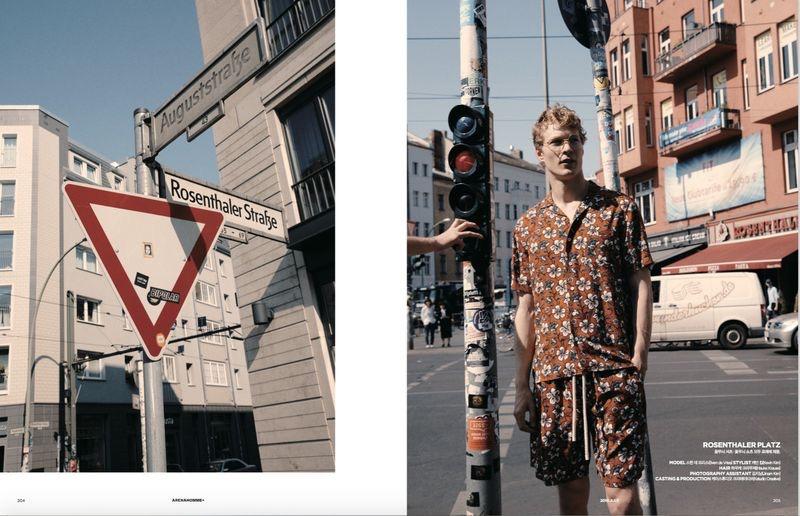 Sven de Vries is a 'Berliner' for Arena Homme+ Korea