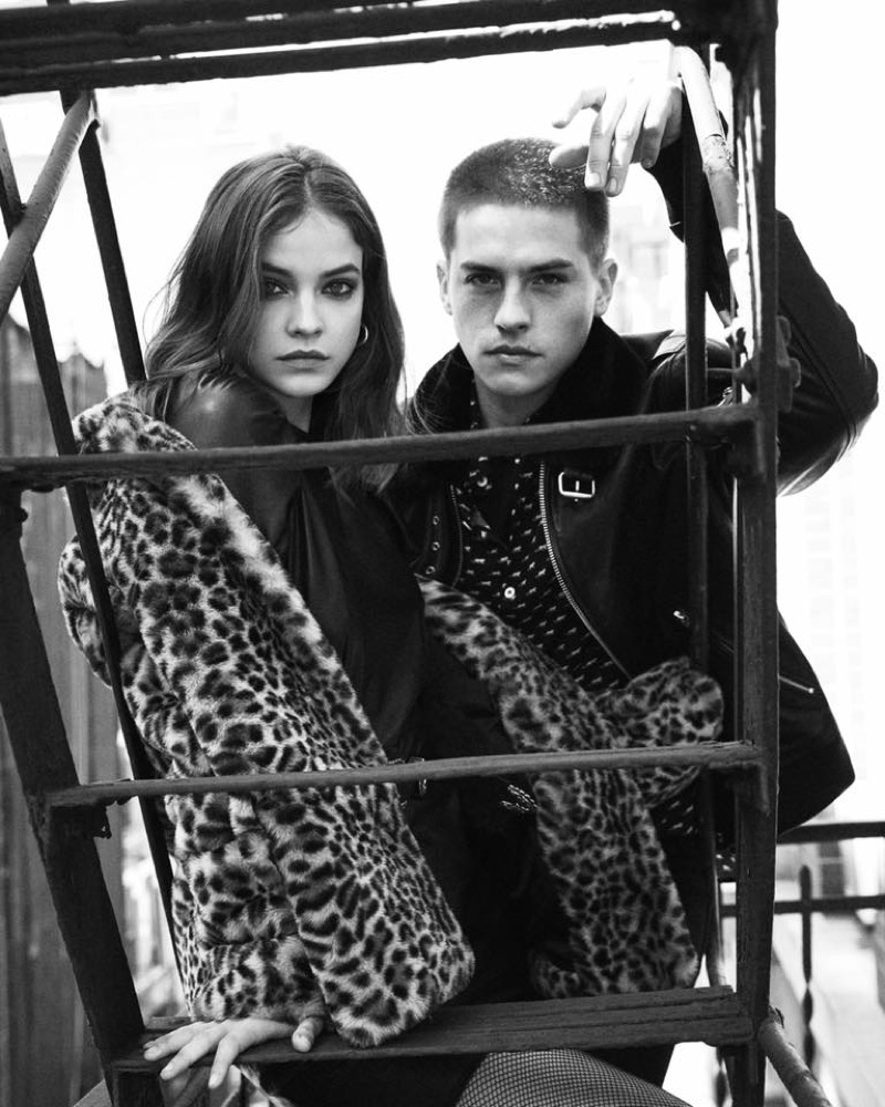 Barbara Palvin and Dylan Sprouse star in The Kooples' fall-winter 2019 campaign.