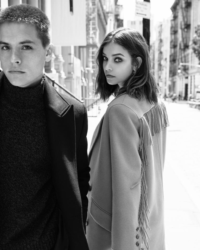 Dylan Sprouse and Barbara Palvin appear in The Kooples' fall-winter 2019 campaign.