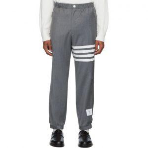 Thom Browne Grey 4-Bar Track Trousers
