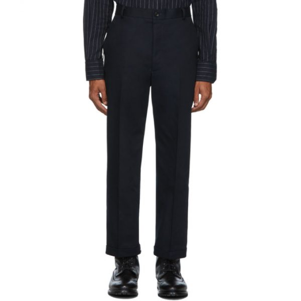 Thom Browne Grey Cavalry Twill Chino Trousers