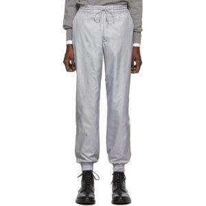 Thom Browne Grey Stripe Ripstop Track Pants