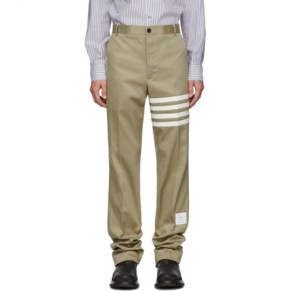 Thom Browne Khaki Unconstructed Chino Trousers
