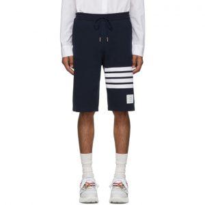 Thom Browne Navy 4-Bar Classic Sweat Shorts