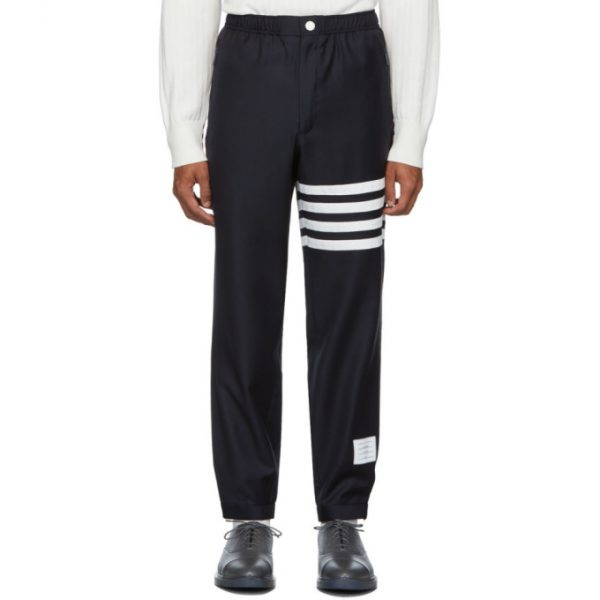 Thom Browne Navy 4-Bar Track Trousers