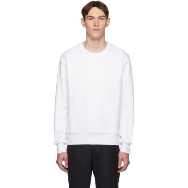 Thom Browne White RWB Stripe Sweatshirt