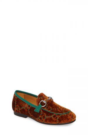 Toddler Gucci Jordaan Loafer, Size 10.5US / 27EU - Brown