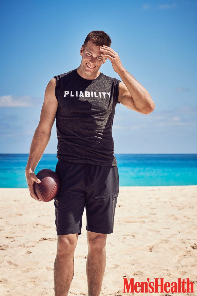 Taking to the beach, Tom Brady stars in a photo shoot for Men's Health.