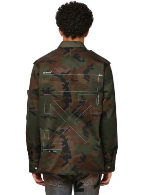 Unfinished Camo Cotton Military Jacket