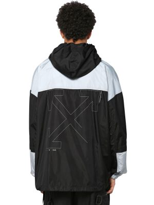 Unfinished Print Techno Windbreaker