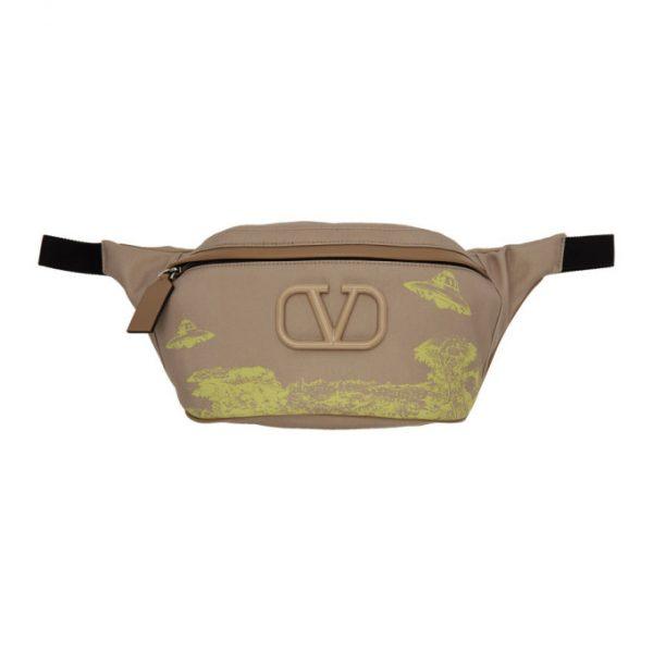 Valentino Beige Valentino Garavani Undercover Edition VLogo UFO Belt Bag
