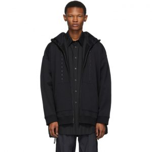 Valentino Black Hybrid Shirt Jacket