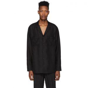 Valentino Black Silk Shirt