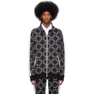 Valentino Black VLTN Grid Zip-Up Sweatshirt