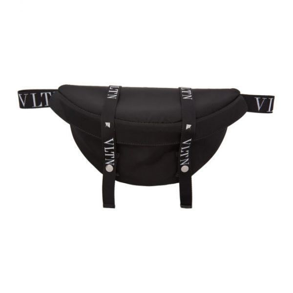 Valentino Black Valentino Garavani VLTN Belt Bag