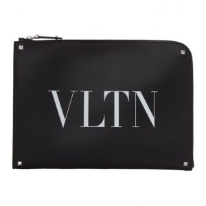 Valentino Black Valentino Garavani VLTN Rockstud Corner Pouch