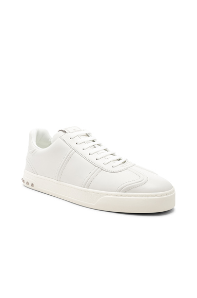 Valentino Leather Sneakers in White