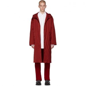 Valentino Red Pleated Parka
