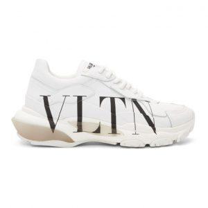 Valentino White Valentino Garavani VLTN Bounce Sneakers