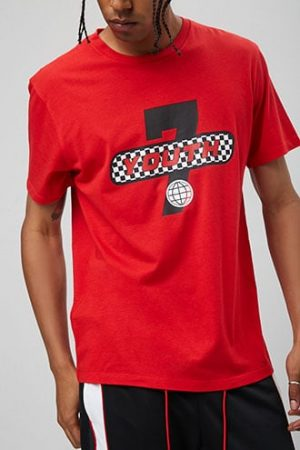 Youth 7 Graphic Tee at Forever 21 , Red/black