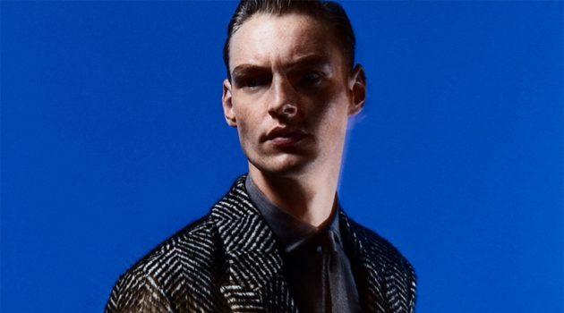 Roberto Sipos dons check tailoring from Zara.