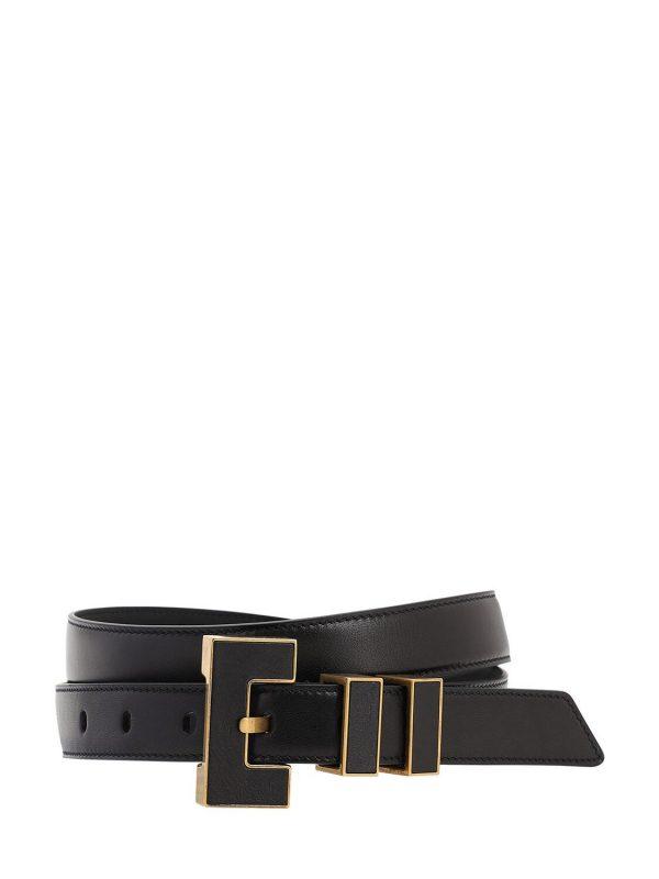 25mm Leather Belt W/metal Buckle