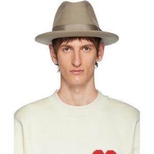 AMI Alexandre Mattiussi Beige Merino Felt Hat