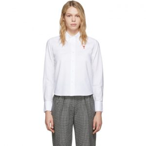 AMI Alexandre Mattiussi White Ami De Coeur Shirt