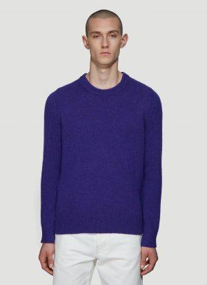 Acne Studios Kai Wool Crewneck Sweater in Purple size L