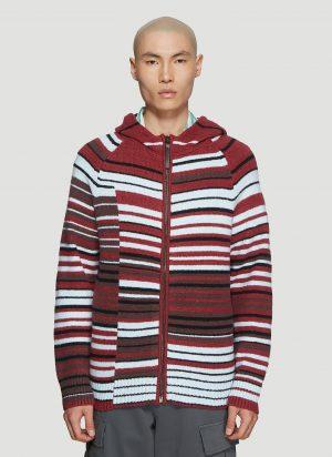 Acne Studios Kobie Mismatch Knit Sweater in Red size XL