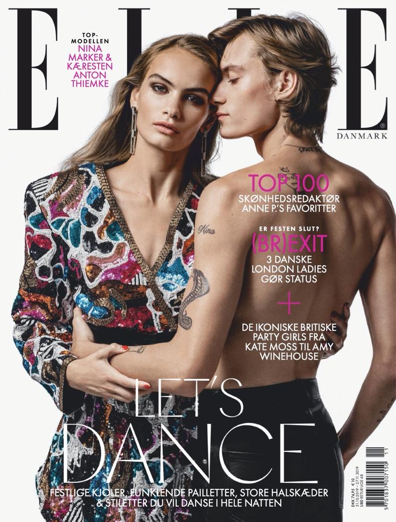 Model Couple Anton & Nina Go Rock & Glam for Elle Denmark