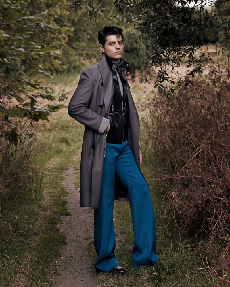 Antonino Russo Dons Leather Coats for How to Spend It