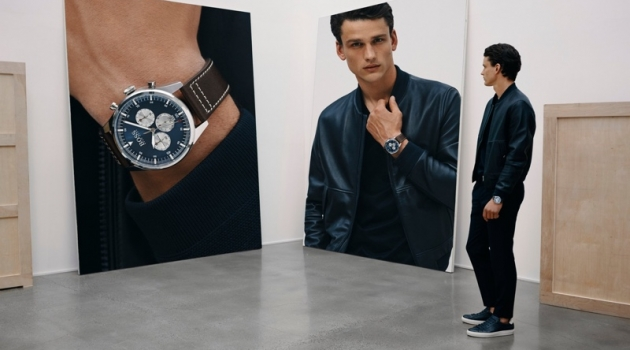Simon Nessman stars in BOSS' fall-winter 2019 watches campaign.