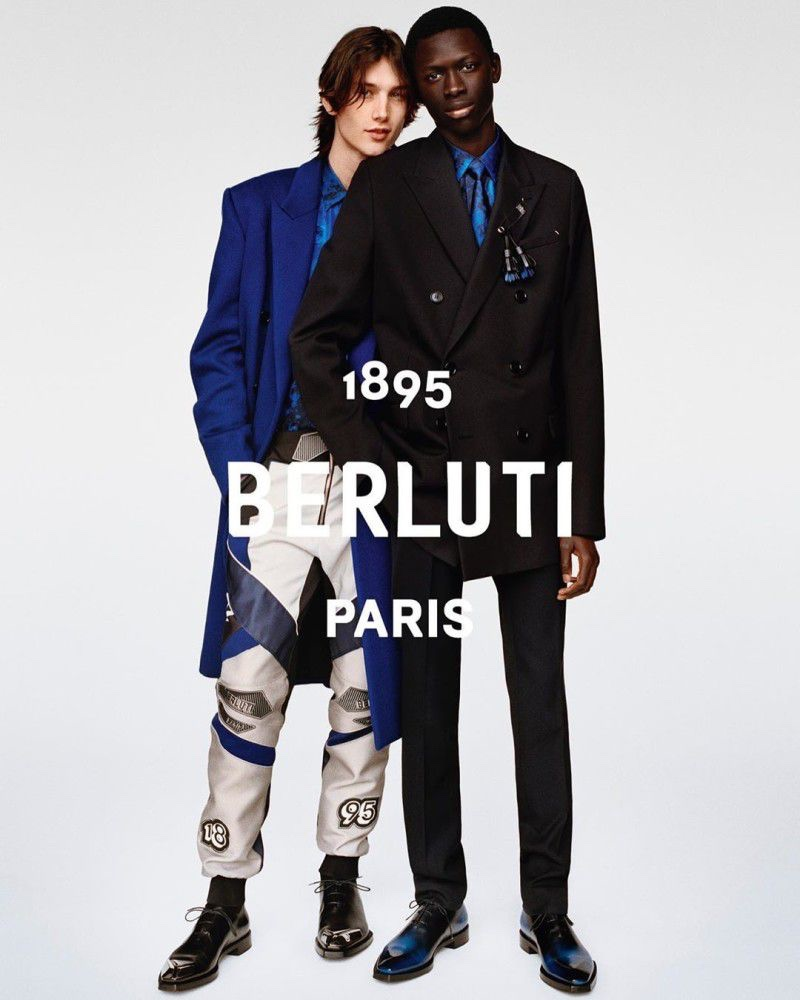 Wellington Grant and Khadim Sock star in Berluti's fall-winter 2019 campaign.