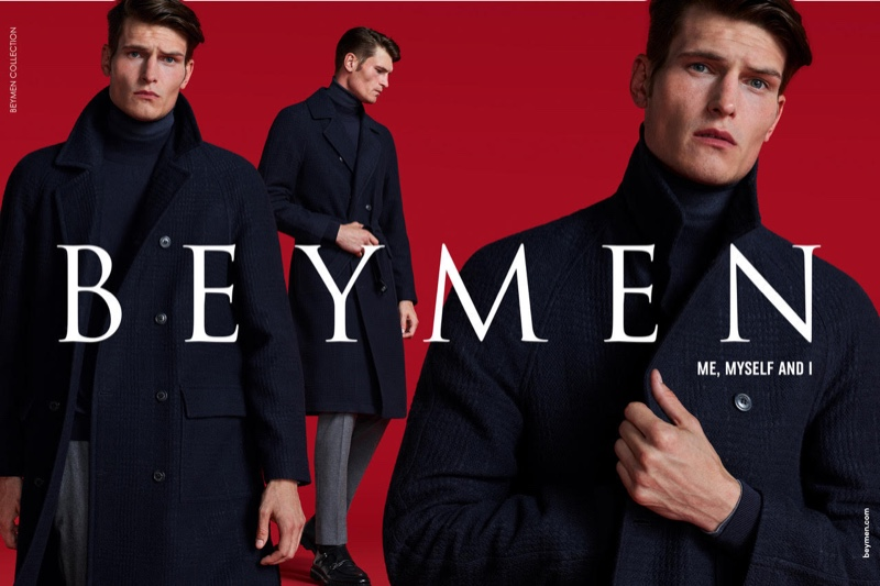 A sleek vision, John Todd fronts Beymen's fall-winter 2019 campaign.
