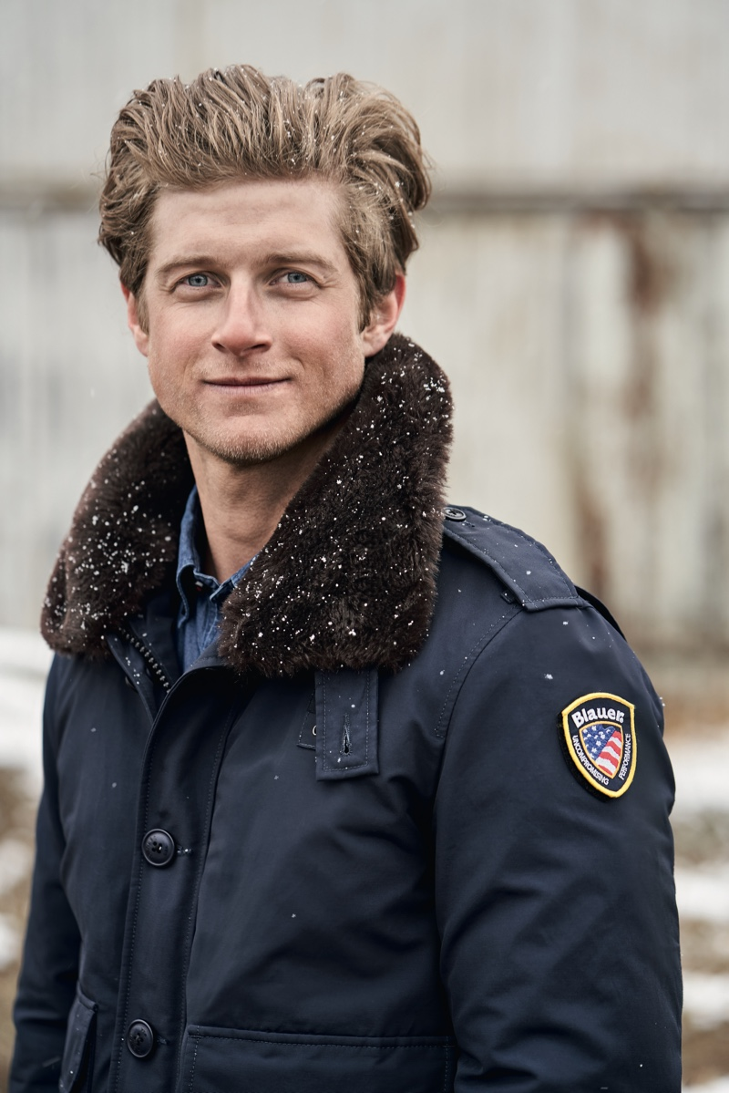 Traveling to the foothills of southwest Boulder County in Colorado, Blauer USA touches down in Nederland for its fall-winter 2019 campaign. A local wears the brand's Stone police jacket.